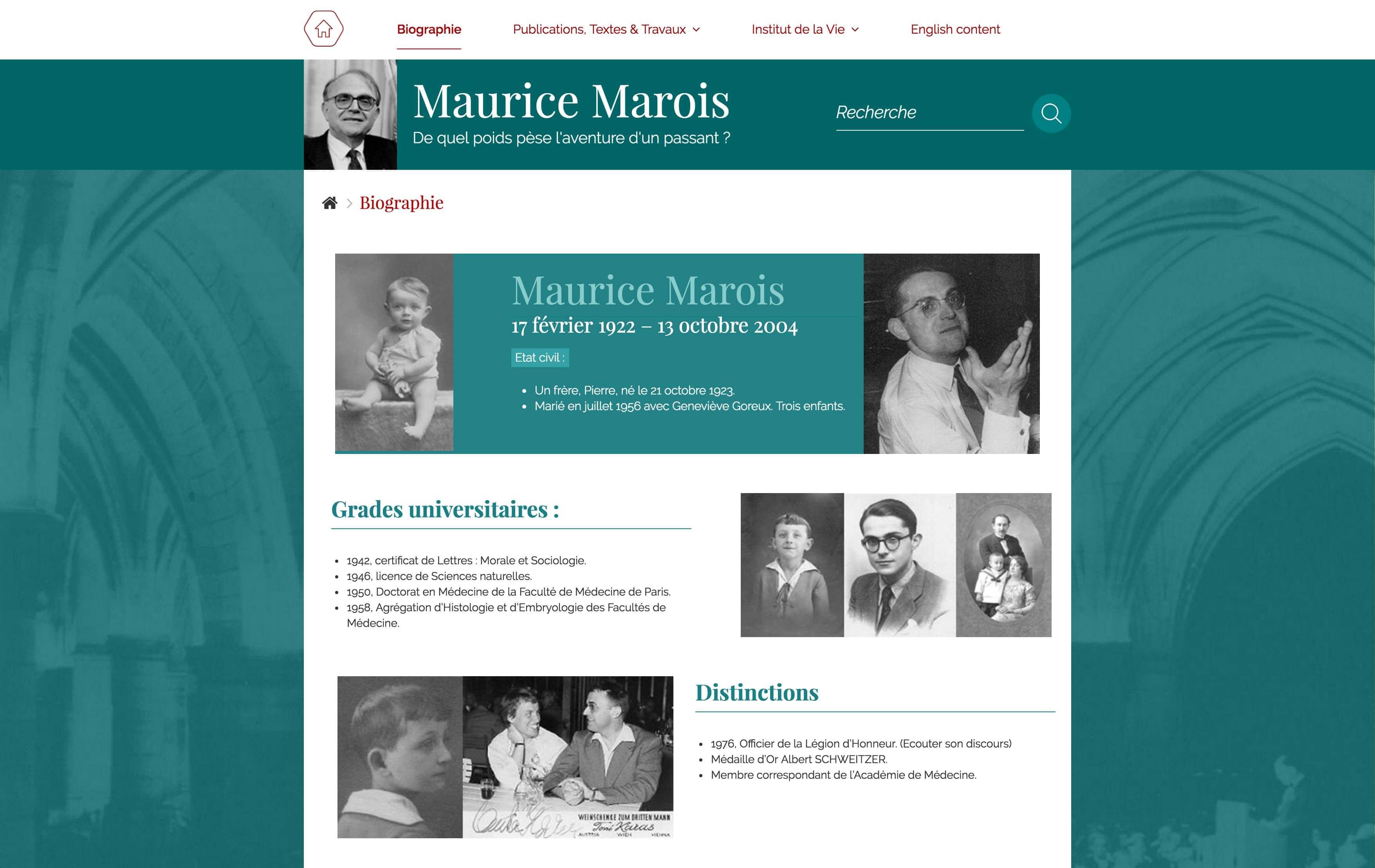 Site maurice marois desktop